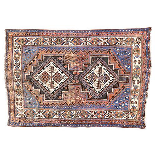 Antique Persian Afshar Rug, 4'3x6'2