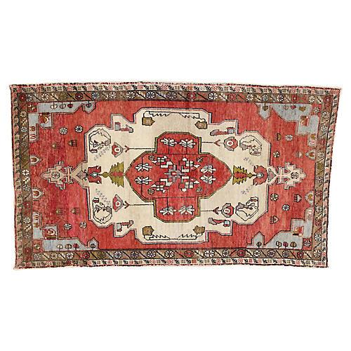 Vintage Turkish Oushak Rug, 4'5x7'8