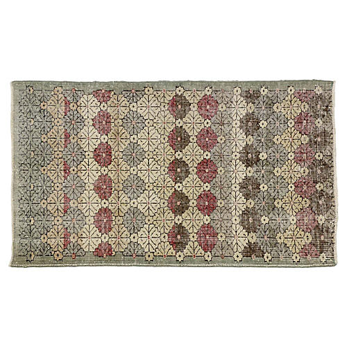 "Turkish Zeki Müren Rug, 3'5"" X 5'9"""