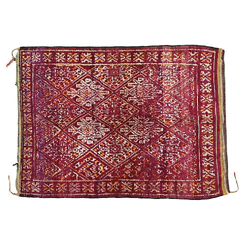 "Vintage Berber Moroccan Rug, 6'2"" x 8'"