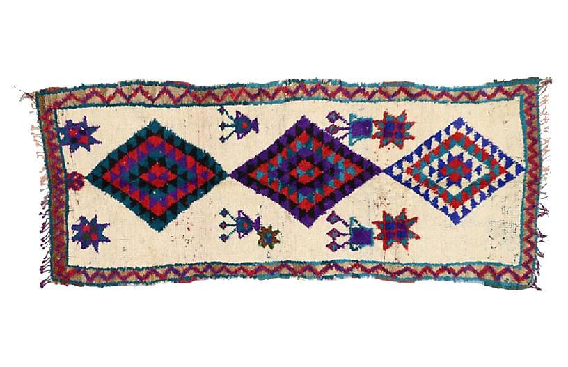 Moroccan Azilal Rug, 3'5