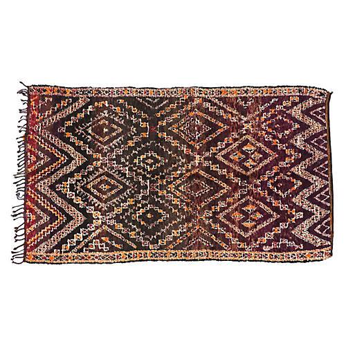 """Moroccan Berber Rug, 6'7"""" x 11'7"""""""