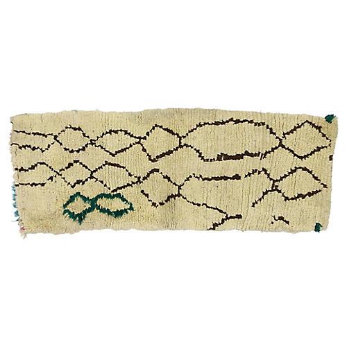 Berber Azilal Moroccan Rug, 2'1 x 5'3