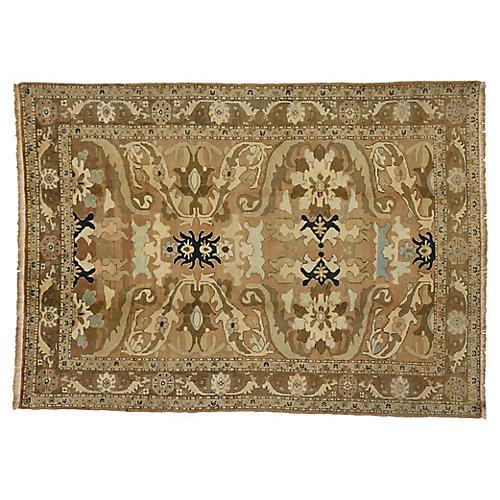 Vintage Persian Heriz Rug, 7'5 x 9'10
