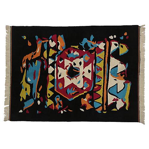 Expressionist Oushak Rug, 5'6 x 7'4