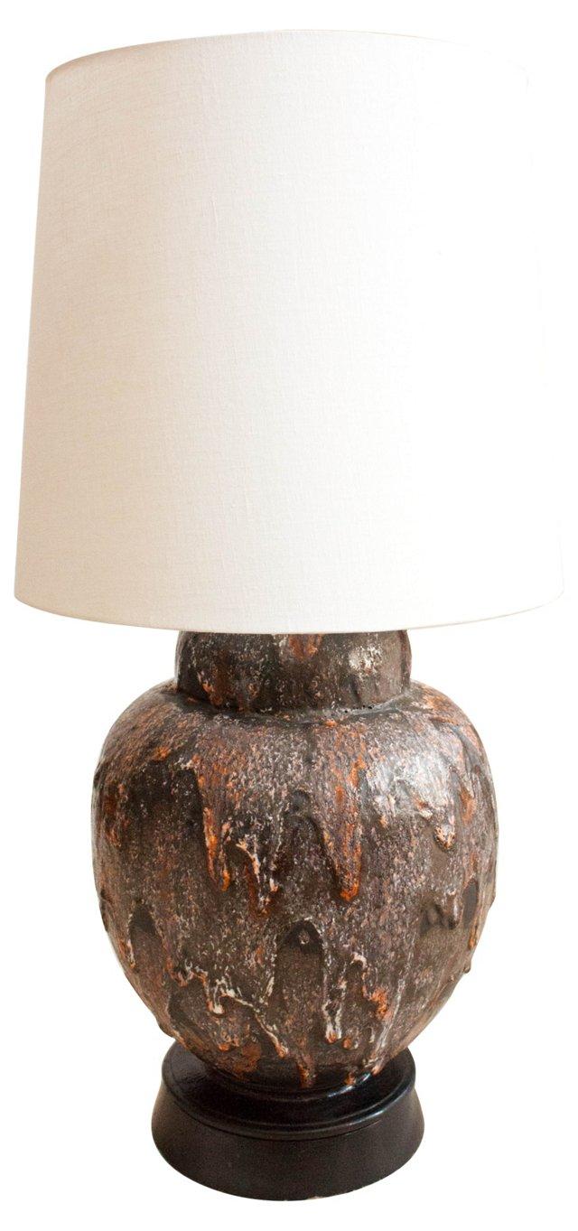 Midcentury Glazed Lamp