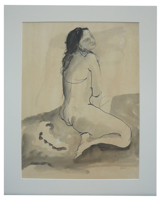 French Nude Model