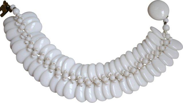 Milk Glass Bracelet