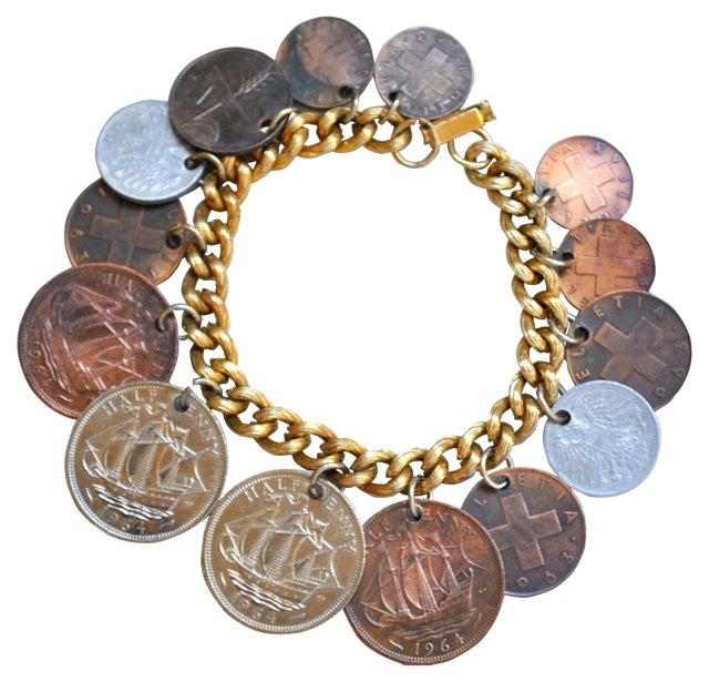 1960s International Coin Bracelet