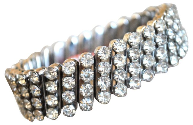 Four-Row Rhinestone Expansion Bracelet