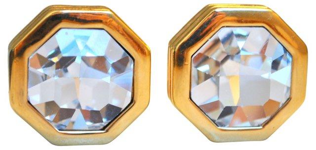 Glass Headlight Earrings