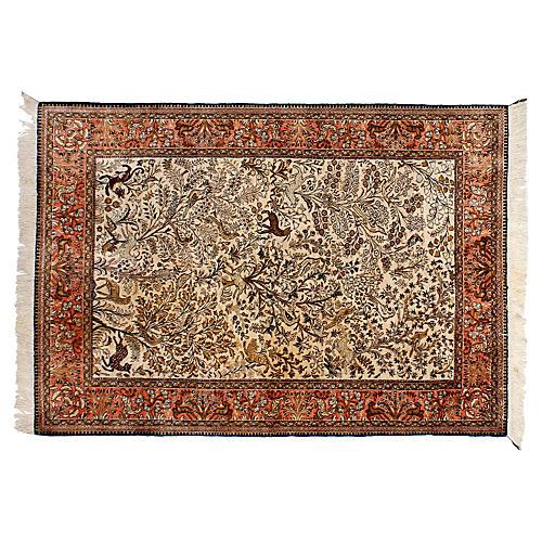 "Persian Silk Ghom Rug, 3'6"" x 5"""