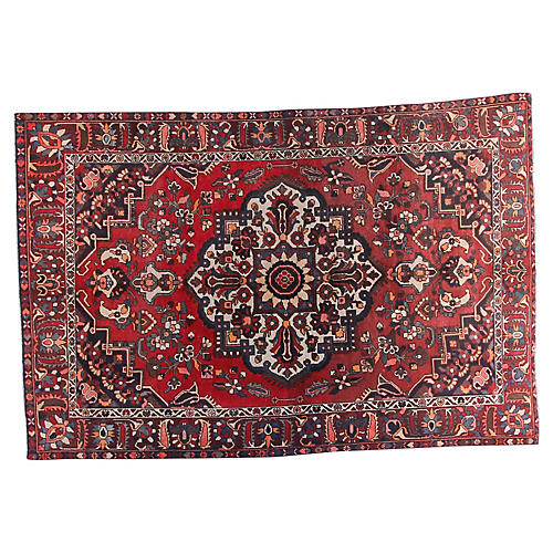"6'4"" x 9'7"" Vintage Persian Rug"