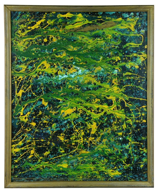Yellow & Green Abstract