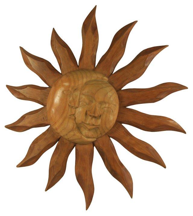 Sun & Moon Wood Plaque