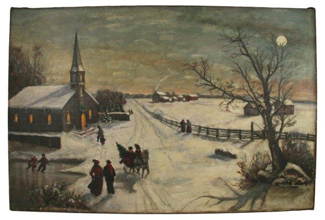 19th-Century Holiday Scene