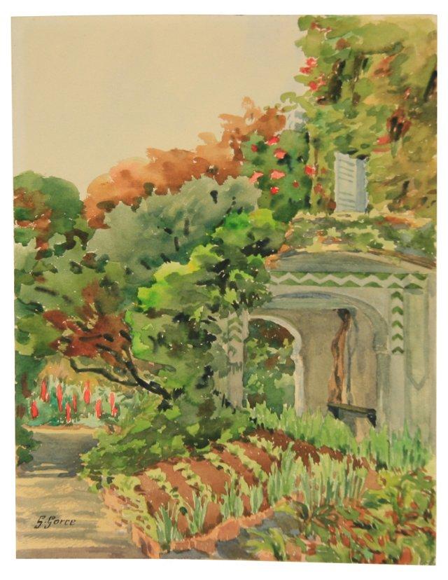 Provence Garden Watercolor