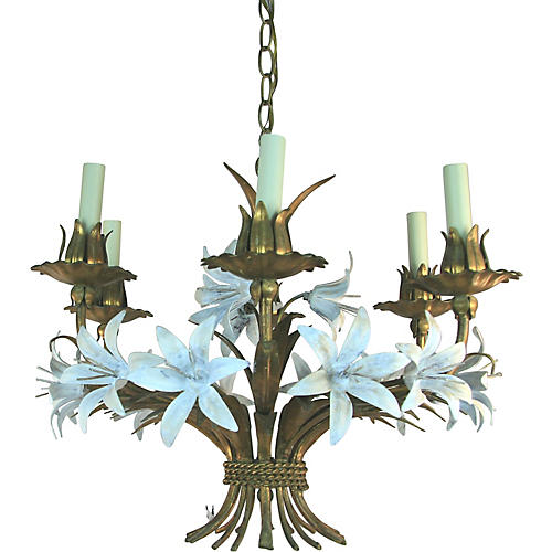 White Lily Chandelier