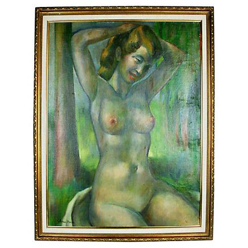 Posing Nude Portrait