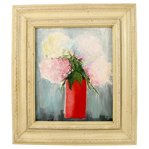Red Vase Still Life