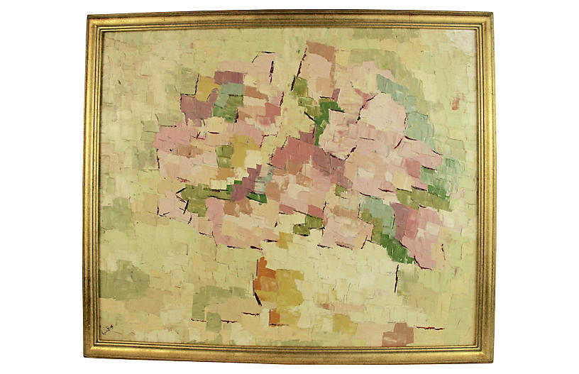 Pink Palette Abstract Painting