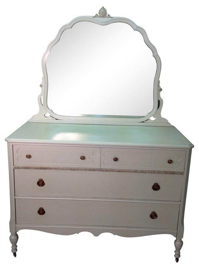 White Dresser w/ Mirror