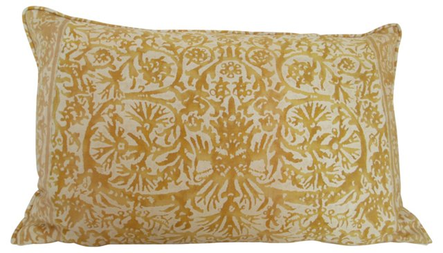 Gold &  Cream Fortuny  Pillow