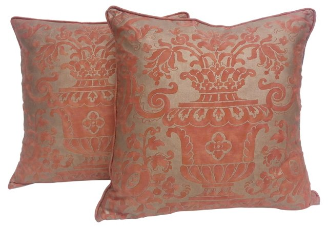 Fortuny  Carnavalet  Pillows, Pair