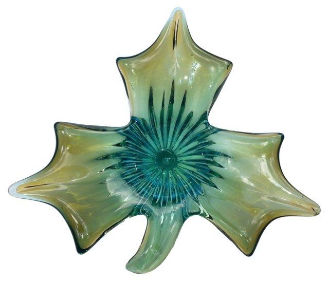 3-Leaf Murano Glass Dish