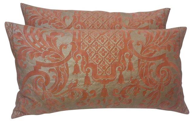 Carnavalet Fortuny Pillows, Pair