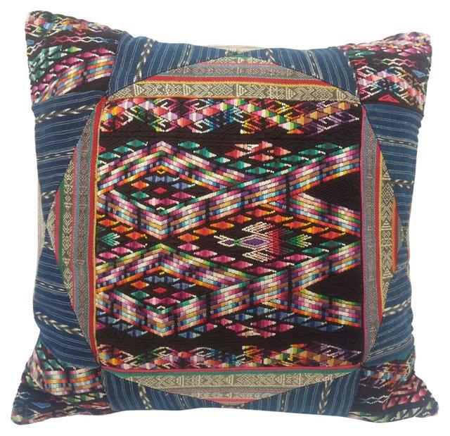 Guatemalan Patchwork Pillow