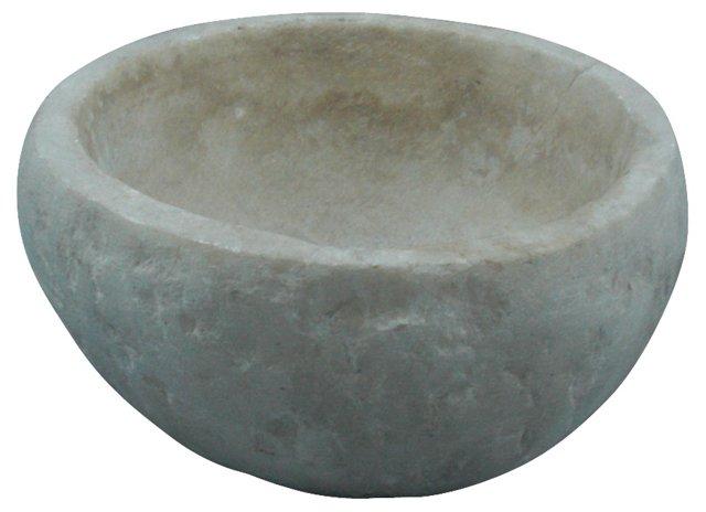 Rough-Hewn Stone Bowl