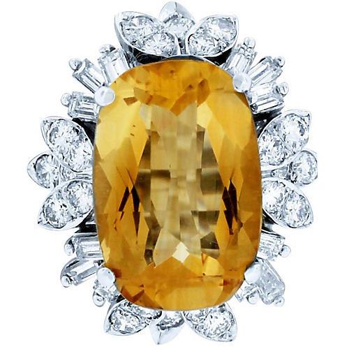 Cirtine & Diamond Ring