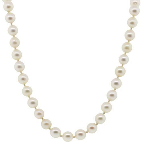 Pearl & Diamond Strand Necklace