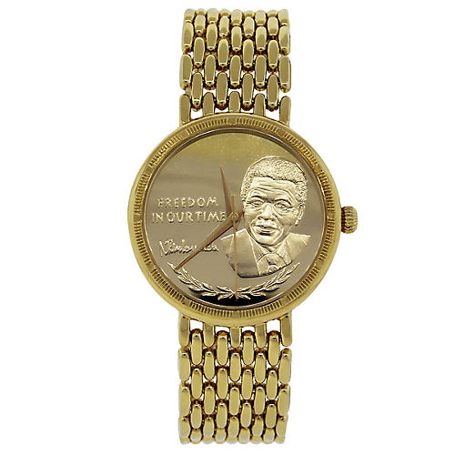Yellow Gold Nelson Mandela Watch