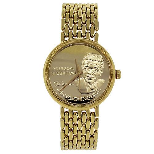 Yellow Gold Nelson Mandela Watch