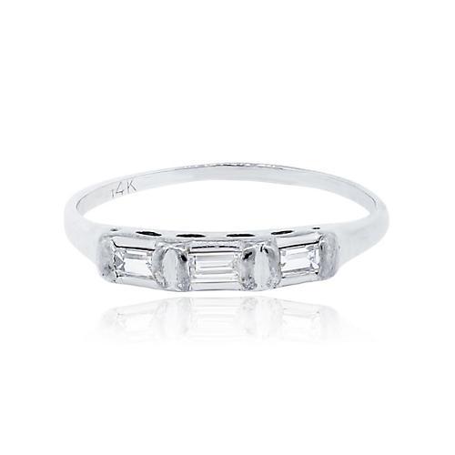 Gold & Baguette Diamond Ring