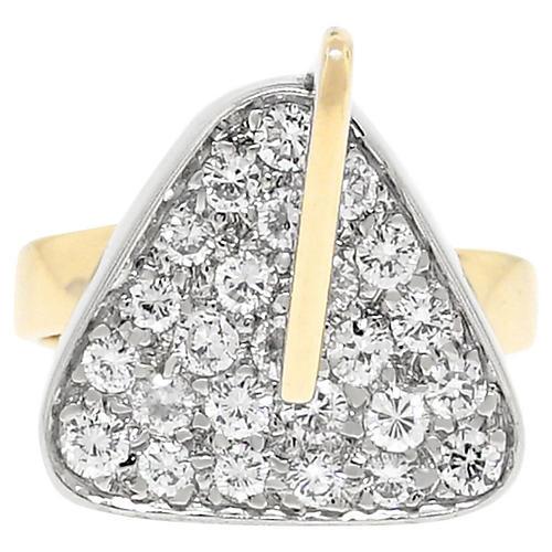 14k Two Tone 0.50ctw Diamond Ring