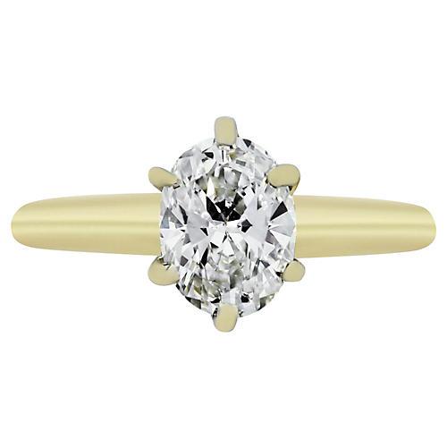 14k Yellow Gold 1.04ct Diamond Ring