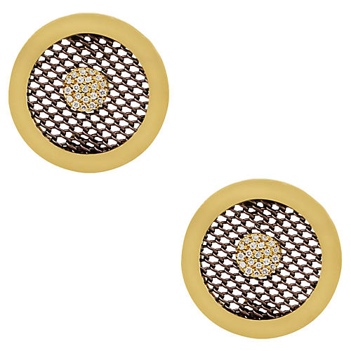 Sabbadini Circle Diamond Earrings