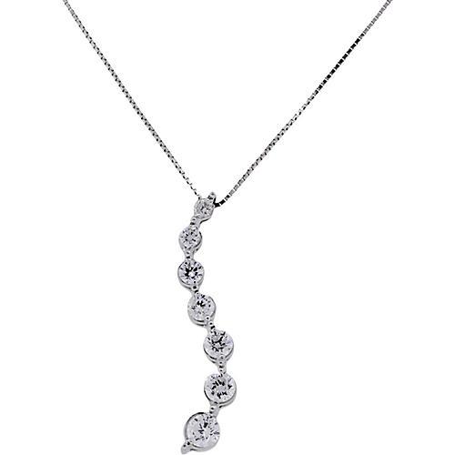 14k Diamond Drop Pendant Necklace