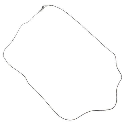 Thin Platinum Braided Chain Necklace