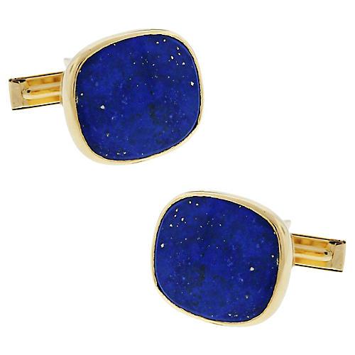 14k Lapis Lazuli Cufflinks
