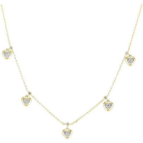 Gold, Diamond Heart Necklace