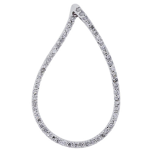 14K Diamond Teardrop Pendant