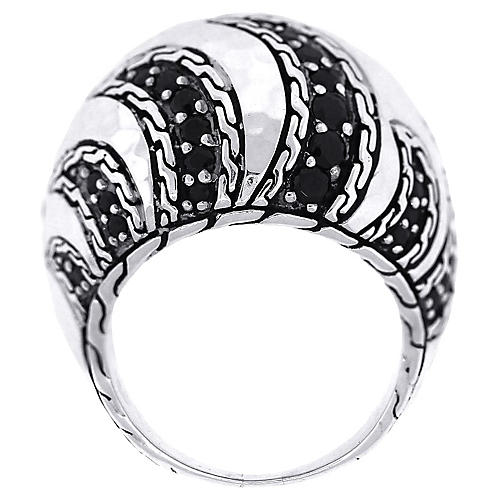 John Hardy Macan Black Sapphire Ring