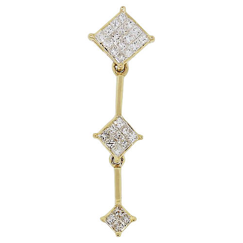14K Gold & Diamond Drop Pendant