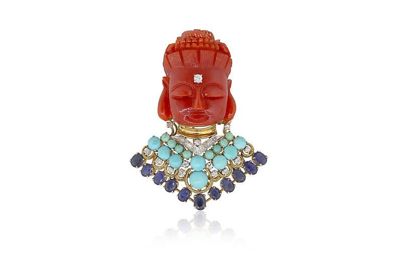 Buddha Inspired Pin Pendant