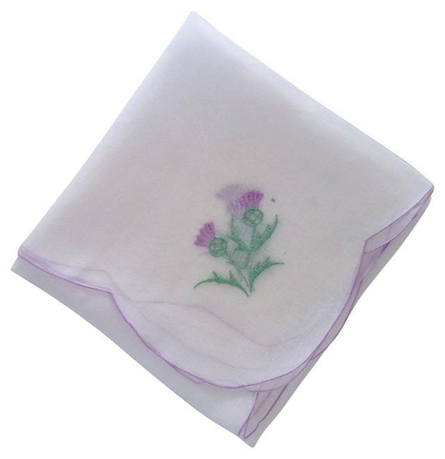 Chiffon Thistle Tea Cloth