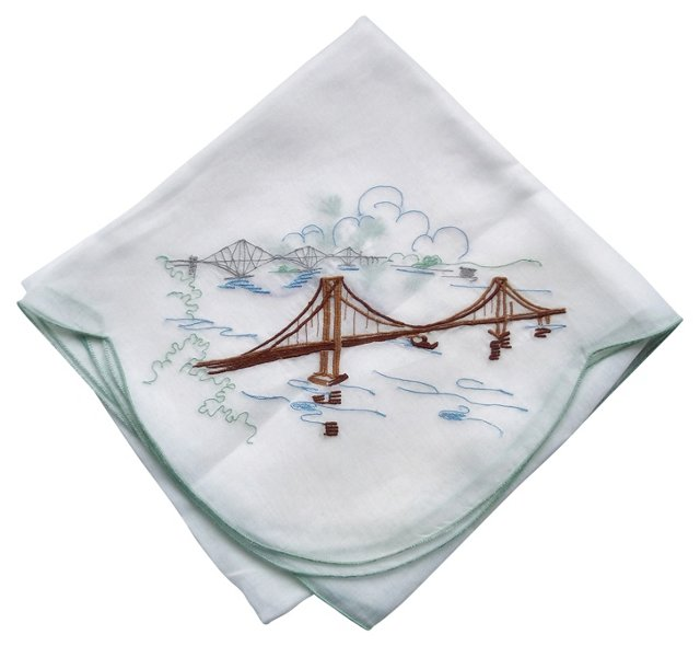 Organdy Embroidered Tablecloth